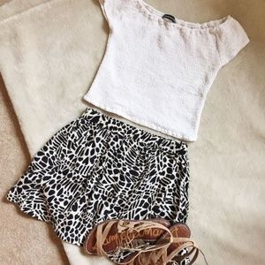 Urban Outfitters Cooperative Black and White Skirt